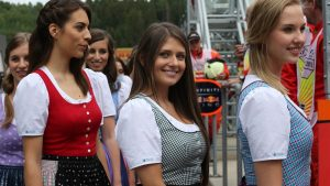 Grid girls at Formula One World Championship, Rd8, Austrian Grand Prix, Qualifying, Spielberg, Austria, Saturday 20 June 2015. © Sutton Motorsport Images