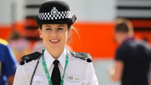 Police officer at Formula One World Championship, Rd9, British Grand Prix, Qualifying, Silverstone, England, Saturday 4 July 2015. © Sutton Motorsport Images