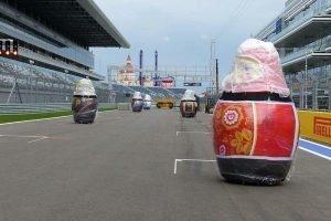 Big Matryoshka dolls on Starting grid - Sochi Autodrom