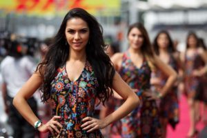 Grid girl-3, Rd17, Mexican Grand Prix, Circuit Hermanos Rodriguez, Mexico City, Mexico, 2015