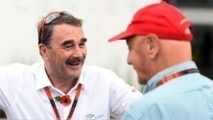 Niki Lauda and Nigel Mansell, Mexican Grand Prix winner in 1992 / 2015 Rd.17 Mexican Grand Prix