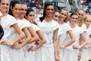Grid girls at Formula One World Championship, Rd18, Brazilian Grand Prix, Race, Interlagos, Sao Paulo, Brazil