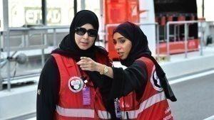 Marshals at Formula One World Championship, Rd19, Abu Dhabi Grand Prix, Preparations, Yas Marina Circuit, Abu Dhabi, UAE