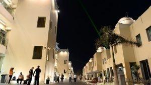 Paddock at night at Formula One World Championship, Rd19, Abu Dhabi Grand Prix, Qualifying, Yas Marina Circuit, Abu Dhabi, UAE