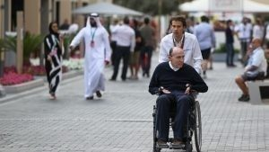Frank Williams (GBR) Williams Team Owner at Formula One World Championship, Rd19, Abu Dhabi Grand Prix, Preparations, Yas Marina Circuit, Abu Dhabi, UAE