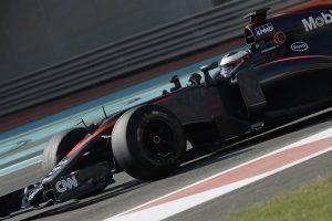 Stoffel Vandoorne, fastest for McLaren in Pirelli tyre test / 1st December 2015, Abu Dhabi