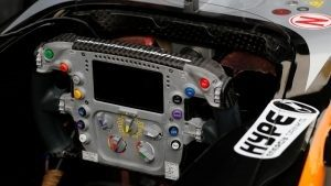 Force India VJM09 stearing wheel detail at Formula One World Championship, Rd3, Chinese Grand Prix, Preparations, Shanghai, China, Thursday 14 April 2016. © Sutton Motorsport Images