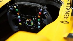 Renault Sport F1 Team RS16 stearing wheel detail at Formula One World Championship, Rd3, Chinese Grand Prix, Preparations, Shanghai, China, Thursday 14 April 2016. © Sutton Motorsport Images