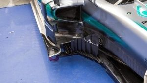 Mercedes-Benz F1 W07 Hybrid aero detail at Formula One World Championship, Rd3, Chinese Grand Prix, Preparations, Shanghai, China, Thursday 14 April 2016. © Sutton Motorsport Images