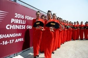 Grid Girls at Formula One World Championship, Rd3, Chinese Grand Prix, Shanghai, China
