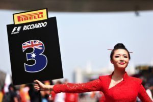 Grid Girls at Formula One World Championship, Rd3, Chinese Grand Prix, Race, Shanghai, China, Sunday 17 April 2016.