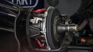 Manor Racing MRT05 front brake and wheel hub detail at Formula One World Championship, Rd4, Russian Grand Prix, Preparations, Sochi Autodrom, Sochi, Krasnodar Krai, Russia, Thursday 28 April 2016. © Sutton Motorsport Images