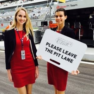 Official girls for FORMULA ONE PADDOCK CLUB