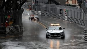 Safety leads at the satrt of the race at Formula One World Championship, Rd6, Monaco Grand Prix, Race, Monte-Carlo, Monaco, Sunday 29 May 2016. © Sutton Images