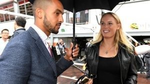 Theo Walcott (GBR) Footballer and Caroline Wozniacki (DEN) Tennis Player at Formula One World Championship, Rd6, Monaco Grand Prix, Race, Monte-Carlo, Monaco, Sunday 29 May 2016. © Sutton Images