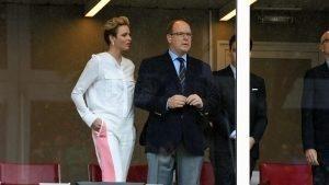 HSH Prince Albert of Monaco (MON) and Princess Charlene of Monaco at Formula One World Championship, Rd6, Monaco Grand Prix, Race, Monte-Carlo, Monaco, Sunday 29 May 2016. © Sutton Images