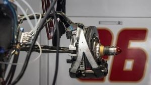 Scuderia Toro Rosso STR11 rear brake and wheel hub at Formula One World Championship, Rd5, Spanish Grand Prix, Preparations, Barcelona, Spain, Thursday 12 May 2016. © Sutton Images