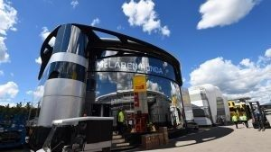 McLaren motorhome at Formula One World Championship, Rd5, Spanish Grand Prix, Preparations, Barcelona, Spain, Wednesday 11 May 2016. © Sutton Images