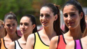 Grid girls at Formula One World Championship, Rd5, Spanish Grand Prix, Qualifying, Barcelona, Spain, Saturday 14 May 2016. © Sutton Motorsport Images
