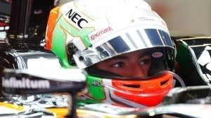 Alfonso Celis jr (MEX) Force India VJM09 at Formula One Testing, Day One, Barcelona, Spain, 17 May 2016. © Sutton Images