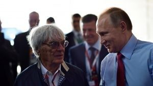 FOM CEO Bernie Ecclestone with Russian President Vladimir Putin, Sochi, May 2016 © Mario Renzi