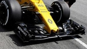 Renault Sport F1 Team RS16 nose and front wing at Formula One Testing, Day One, Barcelona, Spain, 17 May 2016. © Sutton Images