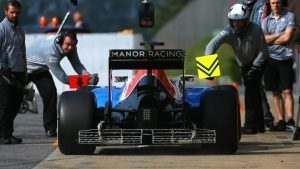 Jordan King (GBR) Manor Racing MRT05 with aero sensor at Formula One Testing, Day Two, Barcelona, Spain, 18 May 2016. © Sutton Images