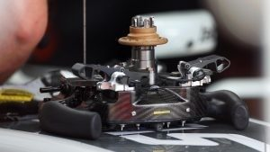 Haas VF-16 steering wheel detail at Formula One Testing, Day Two, Barcelona, Spain, 18 May 2016. © Sutton Images