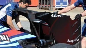 Williams FW38 rear wing detail at Formula One Testing, Day Two, Barcelona, Spain, 18 May 2016. © Sutton Images