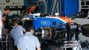 Manor Racing MRT05 in the garage at Formula One Testing, Day Two, Barcelona, Spain, 18 May 2016. © Sutton Images