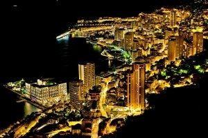 Light in night-1 / Circuit de Monaco, Monte-Carlo