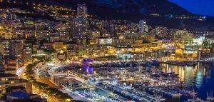 Light in night-2 / Circuit de Monaco, Monte-Carlo