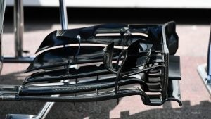 Haas VF-16 front wing detail at Formula One World Championship, Rd6, Monaco Grand Prix, Preparations, Monte-Carlo, Monaco, Wednesday 25 May 2016. © Sutton Images