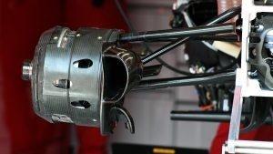 Ferrari SF16-H front wheel hub and brake duct at Formula One World Championship, Rd6, Monaco Grand Prix, Preparations, Monte-Carlo, Monaco, Wednesday 25 May 2016. © Sutton Images