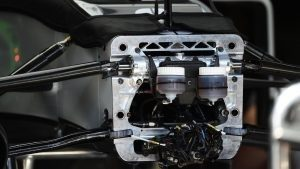 Mercedes-Benz F1 W07 Hybrid chassis detail at Formula One World Championship, Rd6, Monaco Grand Prix, Preparations, Monte-Carlo, Monaco, Wednesday 25 May 2016. © Sutton Images