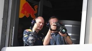 Adrian Newey (GBR) Red Bull Racing and Paul Monaghan (GBR) Red Bull Racing Chief Engineer with camera at Formula One World Championship, Rd6, Monaco Grand Prix, Practice, Monte-Carlo, Monaco, Thursday 26 May 2016. © Sutton Images