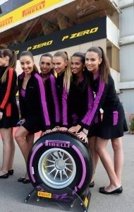Pirelli Tyre Girls at Formula One World Championship, Rd6, Monaco Grand Prix, Practice, Monte-Carlo, Monaco, Thursday 26 May 2016. © Pirelli