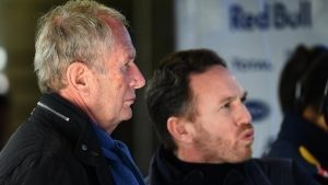 Dr Helmut Marko (AUT) Red Bull Motorsport Consultant and Christian Horner (GBR) Red Bull Racing Team Principal at Formula One Testing, Day Three, Barcelona, Spain, Wednesday 24 February 2016. © Sutton Motorsport Images