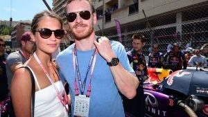 Michael Fassbender (GER) Hollywood Actor with his girlfriend Alicia Vikander on the grid at Formula One World Championship, Rd6, Monaco Grand Prix Race, Monte-Carlo, Monaco, Sunday 24 May 2015. © Sutton Motorsport Images