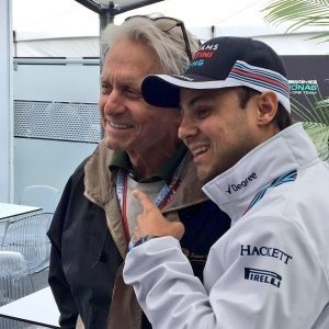 Michael Douglas and Felipe Massa at Formula One World Championship, Rd7, Canadian Grand Prix, Montreal, Canada, 2016.
