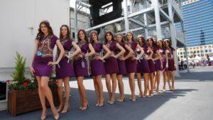 Grid girls at Formula One World Championship, Rd8, European Grand Prix, Qualifying, Baku City Circuit, Baku, Azerbaijan, Saturday 18 June 2016. © Sutton Images