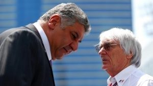 Azad Rahimov (AZE) Azerbaijan Minister for Sport and Bernie Ecclestone (GBR) CEO Formula One Group (FOM) at Formula One World Championship, Rd8, European Grand Prix, Race, Baku City Circuit, Baku, Azerbaijan, Sunday 19 June 2016. © Sutton Images