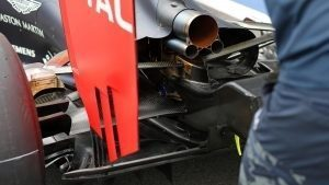 Red Bull Racing RB12 exhaust detail at Formula One World Championship, Rd9, Austrian Grand Prix, Preparations, Spielberg, Austria, Thursday 30 June 2016. © Sutton Images
