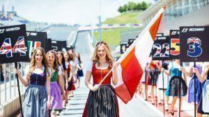 Girls at Formula One World Championship, Rd9, Austrian Grand Prix, Preparations, Spielberg, Austria, Thursday 30 June 2016. © @redbullracing