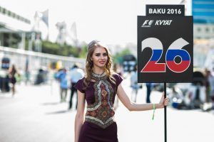 Grid girl at Formula One World Championship, Rd8, European Grand Prix, Race, Baku City Circuit, Baku, Azerbaijan, Sunday 19 June 2016. © Scuderia Toro Rosso