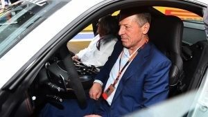 Dmitry Kozak (RUS) Deputy Prime Minister of the Russian Federation and Formula One group CEO Bernie Ecclestone (GBR) in the Safety Car at Formula One World Championship, Rd15, Russian Grand Prix, Practice, Sochi Autodrom, Sochi, Krasnodar Krai, Russia, Friday 9 October 2015. © Sutton Motorsport Images