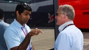Karun Chandhok (IND) and Johnny Herbert (GBR) Sky TV at Formula One World Championship, Rd9, British Grand Prix, Qualifying, Silverstone, England, Saturday 4 July 2015. © Sutton Motorsport Images