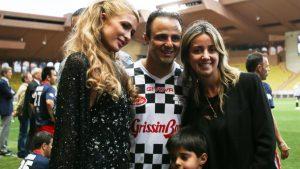Paris Hilton (USA) with Felipe Massa (BRA) Williams, Rafaela Bassi (BRA) and son Felipinho Massa (BRA) at World Stars Football Match, Stade Luis II, Monaco, Tuesday 19 May 2015. © Sutton Motorsport Images