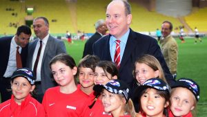 HSH Prince Albert of Monaco (MON) at World Stars Football Match, Stade Luis II, Monaco, Tuesday 19 May 2015. © Sutton Motorsport Images