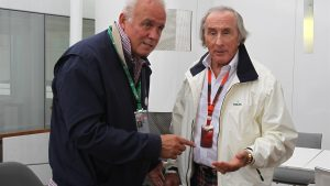 Patrick Tambay (FRA) and Sir Jackie Stewart (GBR) at Formula One World Championship, Rd6, Monaco Grand Prix Practice, Monte-Carlo, Monaco, Thursday 21 May 2015. © Sutton Motorsport Images